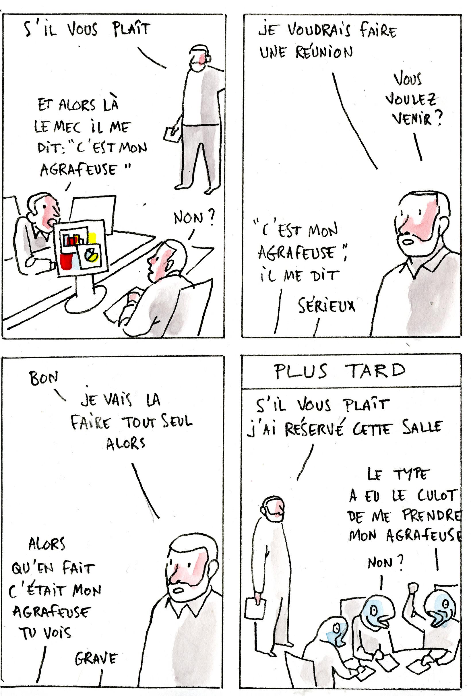 Contrariété #3 – l'agrafeuse